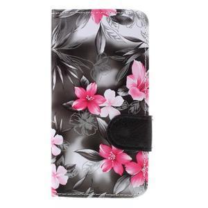 Květinové pouzdro na Huawei Y5 a Y560 - černé pozadí - 3
