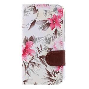 Kvetinové puzdro na Huawei Y5 a Y560 - biele pozadie - 3
