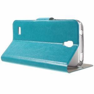 Horse peňaženkové puzdro na mobil Huawei Y5 a Y560 - modré - 3