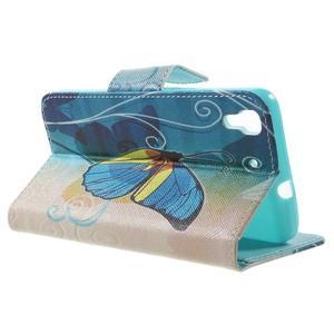 Emotive pouzdro na mobil Huawei Y6 - modrý motýl - 3