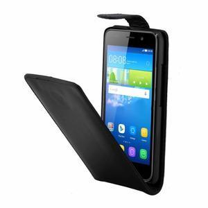 Černé flipové PU kožené pouzdro na Huawei Y6 - 3