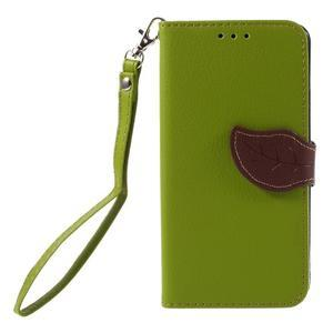 Leaf PU kožené pouzdro na mobil Huawei Y6 - zelené - 3