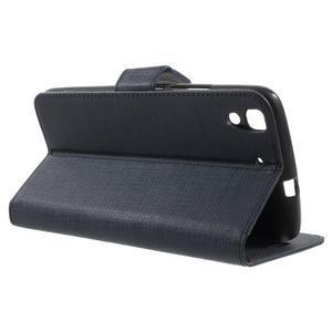 Clothy PU kožené pouzdro na Huawei Y6 - tmavěmodré - 3