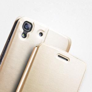 Vintage PU kožené pouzdro na mobil Huawei Y6 - zlaté - 3