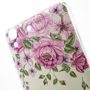 Softy gelový obal na mobil Huawei Y6 - květiny - 3
