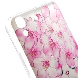 Softy gelový obal na mobil Huawei Y6 - květy svěstky - 3