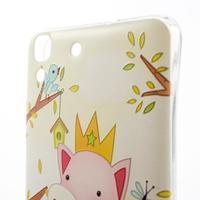 Softy gelový obal na mobil Huawei Y6 - zamilované prasátko - 3/6