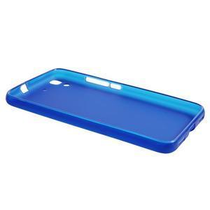 Matný gelový obal na mobil Huawei Y6 - modrý - 3