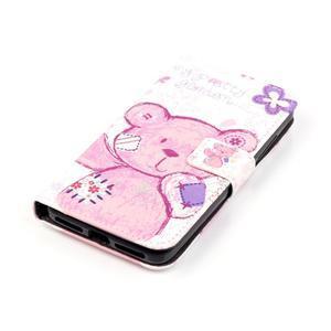 Knížkové pouzdro na mobil Huawei Y6 Pro - medvídek - 3