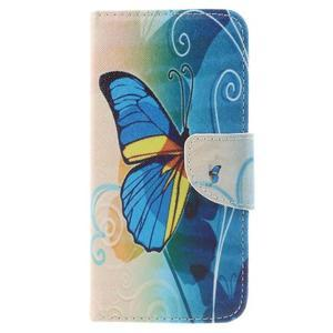 Emotive peňaženkové puzdro na mobil Huawei Y6 Pro - modrý motýľ - 3