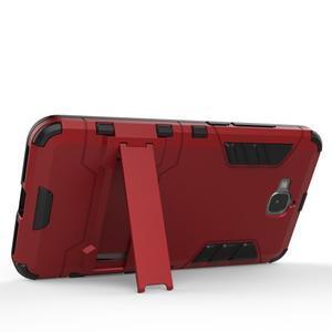 Outdoor odolný obal na mobil Huawei Y6 Pro - šedomodrý - 3