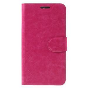 Horse PU kožené peňažekové puzdro na Huawei Y6 Pro - rose - 3