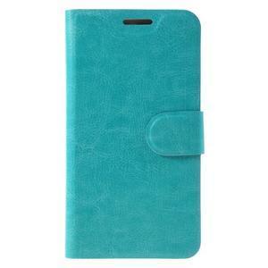Horse PU kožené peňažekové puzdro na Huawei Y6 Pro - modré - 3