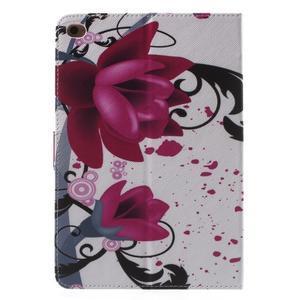 Stylové pouzdro na iPad mini 4 - fialový květ - 3