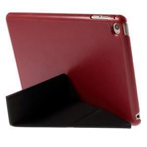Origami polohovateľné puzdro pre iPad mini 4 - červené - 3
