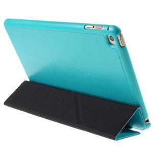Origami polohovateľné puzdro pre iPad mini 4 - svetlomodré - 3