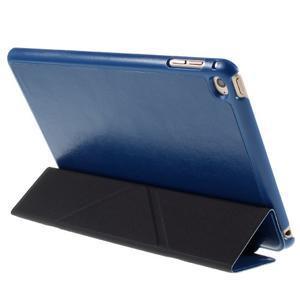 Origami polhovatelné pouzdro na iPad mini 4 - tmavěmodré - 3