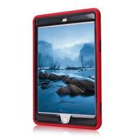 Vysoce odolný silikónový obal pre tablet iPad mini 4 - čierne/červený - 3/4