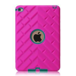 Vysoce odolný silikonový obal na tablet iPad mini 4 - rose/zelený - 3