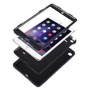 Vysoce odolný silikonový obal na tablet iPad mini 4 - cyan/šedý - 3