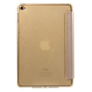 Trifold trojpolohové pouzdro na tablet iPad mini 4 - zlaté - 3