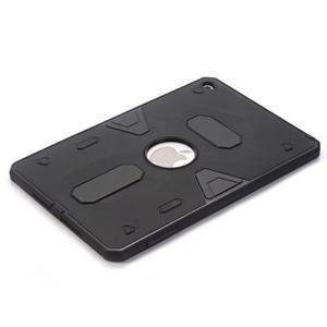 Outdoor dvoudílný gélový/plastový obal pre iPad mini 4 - čierne - 3
