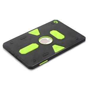 Outdoor dvoudílný gélový/plastový obal pre iPad mini 4 - zelený - 3