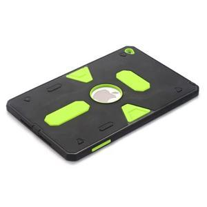Outdoor dvoudílný gelový/plastový obal na iPad mini 4 - zelený - 3