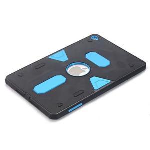 Outdoor dvoudílný gélový/plastový obal pre iPad mini 4 - modrý - 3