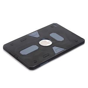 Outdoor dvoudílný gélový/plastový obal pre iPad mini 4 - modrosivý - 3