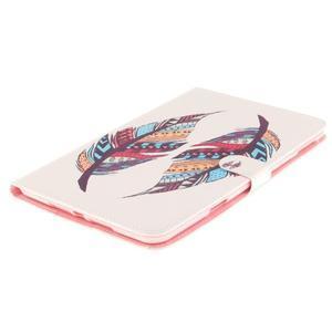 Standy pouzdro na tablet iPad mini 4 - barevná peříčka - 3
