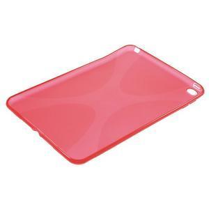 X-line gelový obal na tablet iPad mini 4 - červený - 3