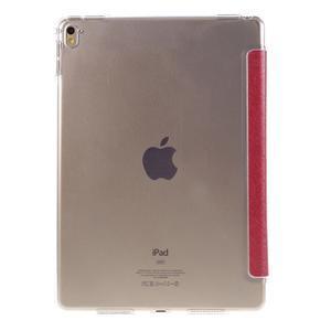 Trifold polohovatelné pouzdro na tablet iPad Pro 9.7 - červené - 3
