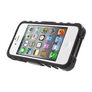 Outdoor odolný obal na mobil iPhone 4 - černý - 3