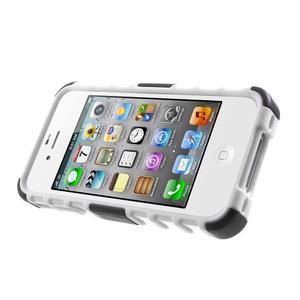 Outdoor odolný obal pre mobil iPhone 4 - biele - 3