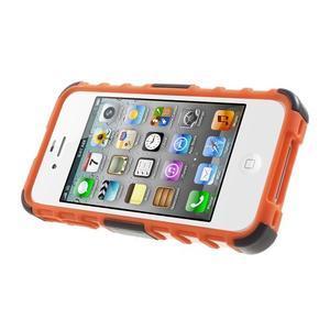 Outdoor odolný obal pre mobil iPhone 4 - oranžový - 3