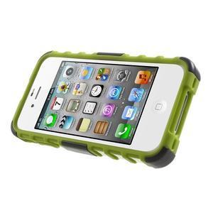 Outdoor odolný obal na mobil iPhone 4 - zelený - 3