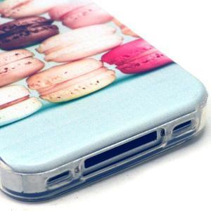 Emotive gélový obal pre mobil iPhone 4 - makrónky - 3