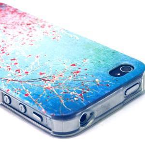Emotive gélový obal pre mobil iPhone 4 - kvetoucí vetvičky - 3