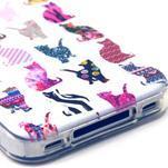Emotive gelový obal na mobil iPhone 4 - kočičky - 3/3