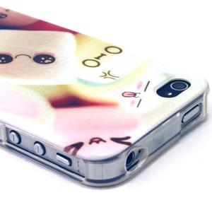 Emotive gélový obal pre mobil iPhone 4 - kokina - 3
