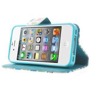 Emotive knížkové pouzdro na iPhone 4 - motýlci - 3