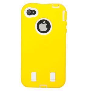 Armor vysoce odolný obal na iPhone 4 - žlutý - 3
