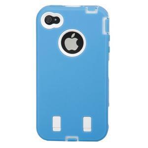 Armor vysoce odolný obal na iPhone 4 - modrý - 3