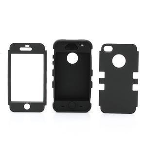 Extreme odolný kryt 3v1 na mobil iPhone 4 - černý - 3