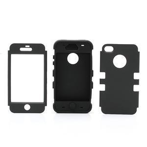 Extreme odolný kryt 3v1 na mobil iPhone 4 - fialovoružový - 3