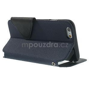 Peňaženkové puzdro s okienkom na iPhone 6 a 6s - tmavomodré - 3
