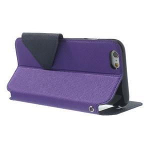 Peňaženkové puzdro s okienkom na iPhone 6 a 6s - fialové - 3