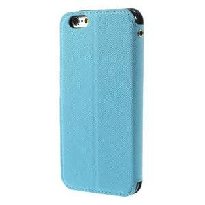 Peňaženkové puzdro s okienkom na iPhone 6 a 6s - svetlomodré - 3