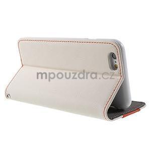 Klopové puzdro na iPhone 6 a iPhone 6s - biele - 3